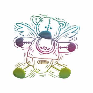 Baby-Teddybär-Engel Freistehende Fotoskulptur