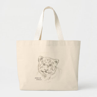 Baby Tiger-Zeichnen Jumbo Stoffbeutel