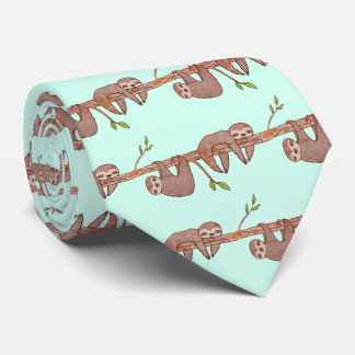 Baby-Trägheiten, die am Baum-Muster hängen Personalisierte Krawatte