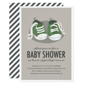 Baby-Turnschuh-Schuh-Einladung Karte