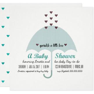 BABY u. Co blaue und rosa Babyparty-Einladung Karte
