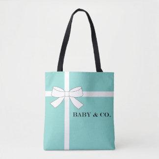 BABY u. Co. blaue und weiße Tasche