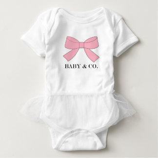 BABY u. Co rosa Baby-Ballettröckchen-Bodysuit Baby Strampler