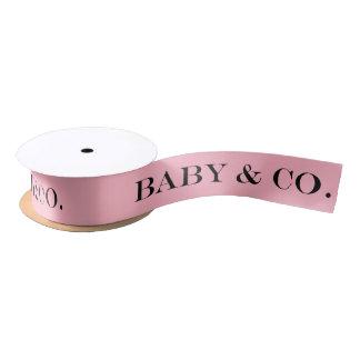 BABY u. Co rosa Mädchen-Baby-Duschen-Party-Band Satinband