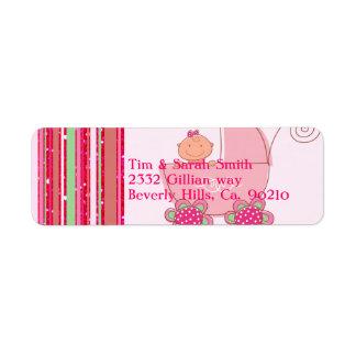 Baby u. Glittery Erdbeerrosa-Babyparty