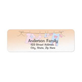 Baby-Wäscheleine-Adressen-Etikett