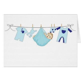 Baby-Wäscheleine Grußkarte