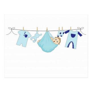 Baby-Wäscheleine Postkarten