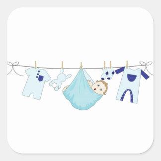 Baby-Wäscheleine Quadratischer Aufkleber
