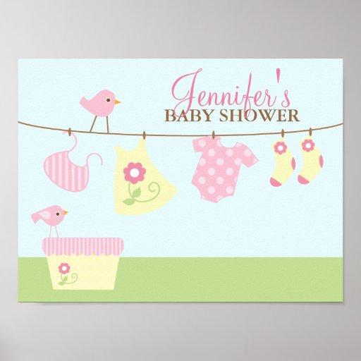 Baby-Wäscherei-Babyparty-Willkommensschild Posterdrucke