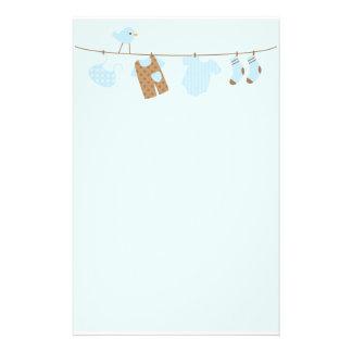 Baby-Wäscherei (blau) Individuelles Druckpapier