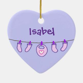 Baby-Wäscherei ist es ein Mädchen! Personalisiert Keramik Ornament