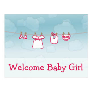 Baby-Wäscherei - Mädchen Postkarte
