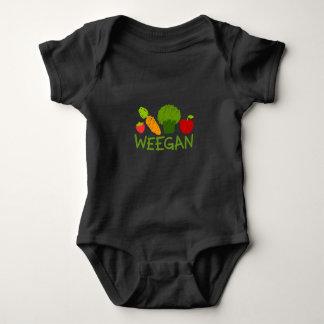 Baby Weegan Bodysuit - Dunkelheit Baby Strampler