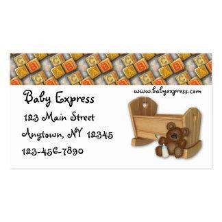 Baby-Wiegen-Visitenkarte Visitenkarten
