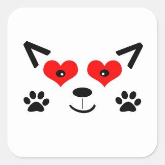 Baby-Wolf Quadrat-Aufkleber