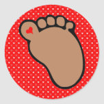 Babyabdruck-Dunkelheitshaut Aufkleber