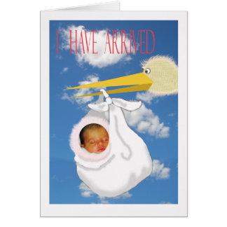 Babyankunftsmitteilung, kundenspezifische Karte, Karte