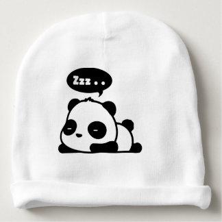 Babybaumwollebeenie mit schläfrigem Panda des Babymütze