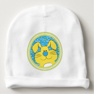 Babybeanie-Geschenk/Honig-Häschen/Blau/Gelb Babymütze