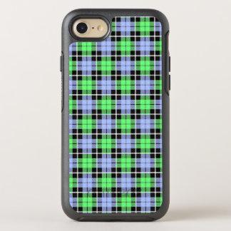 Babyblau/hellgrüner karierter weißer Streifen OtterBox Symmetry iPhone 8/7 Hülle