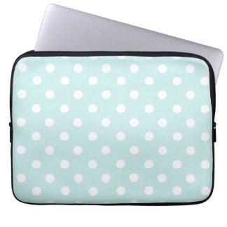 Babyblau-Tupfenmuster Laptopschutzhülle