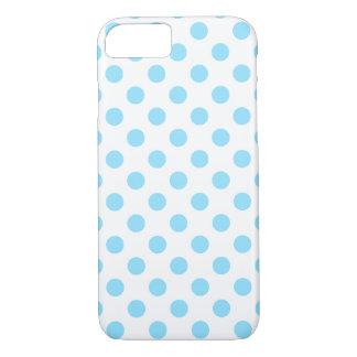 Babyblau- und -WEISS-Tupfen iPhone 8/7 Hülle