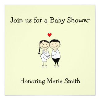 Babyduschen-Cartoon Einladung