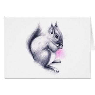 Babyeichhörnchen Karte
