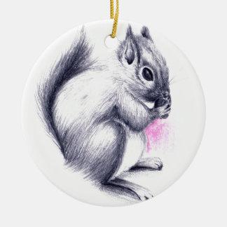 Babyeichhörnchen Rundes Keramik Ornament