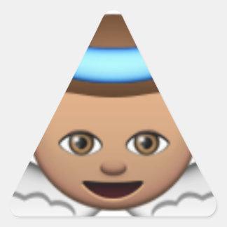 Babyengel emoji Halo-Liebe Dreieckiger Aufkleber