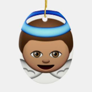 Babyengel emoji Halo-Liebe Keramik Ornament
