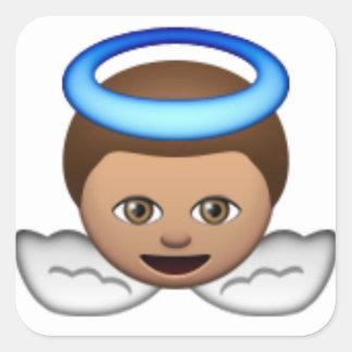 Babyengel emoji Halo-Liebe Quadratischer Aufkleber