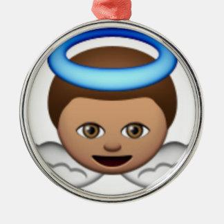 Babyengel emoji Halo-Liebe Silbernes Ornament