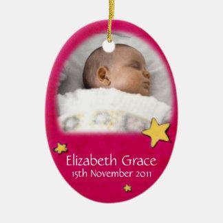 Babyengel Weihnachtsrote Verzierung besitzen Foto Keramik Ornament