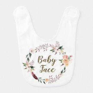 Babygesicht boho Blumenschellfischmädchen oder Lätzchen