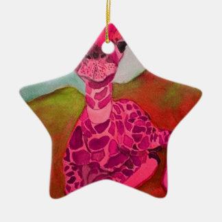 babygiraffe keramik Stern-Ornament