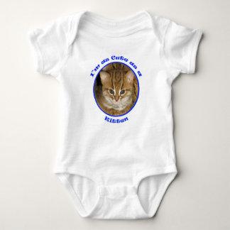 Babygrow - niedlich als Kätzchenblau Tshirt