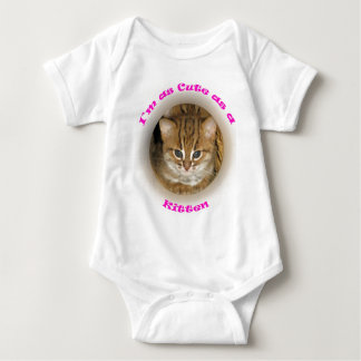 Babygrow - niedlich als rostige gepunktete Katze T Shirts