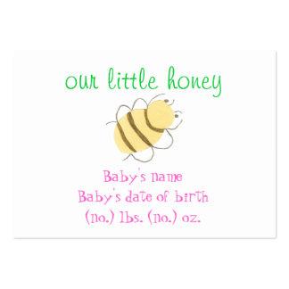 Babyhummeltaschen-Geburtsmitteilung Mini-Visitenkarten