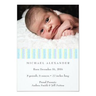 Babyjungen-Geburtsmitteilung ı Fotokarte 12,7 X 17,8 Cm Einladungskarte