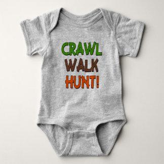 Babyjungen-Shirt der Schleichen-Weg-Jagd lustiges Baby Strampler
