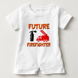 Babyjungen-Shirt des zukünftigen Feuerwehrmanns Baby Strampler