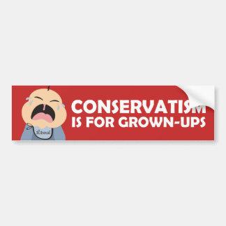 Babykonservativerwachsener des Liberaldemokraten Autoaufkleber
