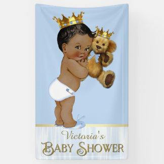 Babyparty Afroamerikaner-Prinz-Teddybär Banner