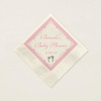Babyparty, Baby-Abdrücke, kundenspezifische Papierserviette