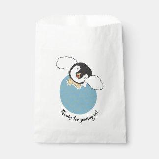 Babyparty-Bevorzugungs-Tasche, Blau, Baby-Pinguin Geschenktütchen