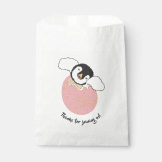 Babyparty-Bevorzugungs-Tasche, Rosa, Baby-Pinguin Geschenktütchen