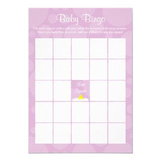 Babyparty-Bingo - Ducky Gummithema - Flieder Karte