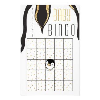 "Babyparty BINGO ""GoldPinguin "" Flyer"